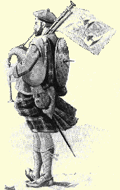 18th Cent Scottish Bagpiper